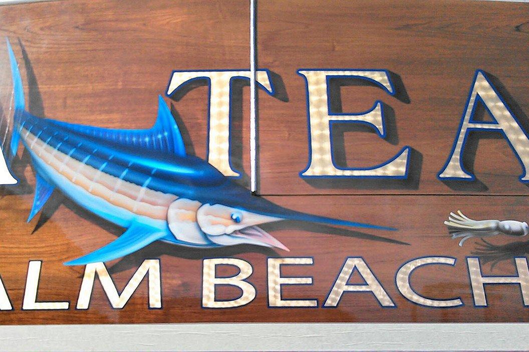 Tuna Teaser, Palm Beach Boat Transom