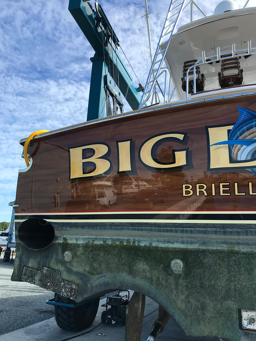 Big Deal Brielle New Jersey Boat Transom spencer yachts wanchese nc