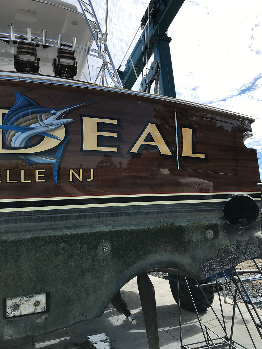 Big Deal Brielle New Jersey Boat Transom wanchese sportfishing boats