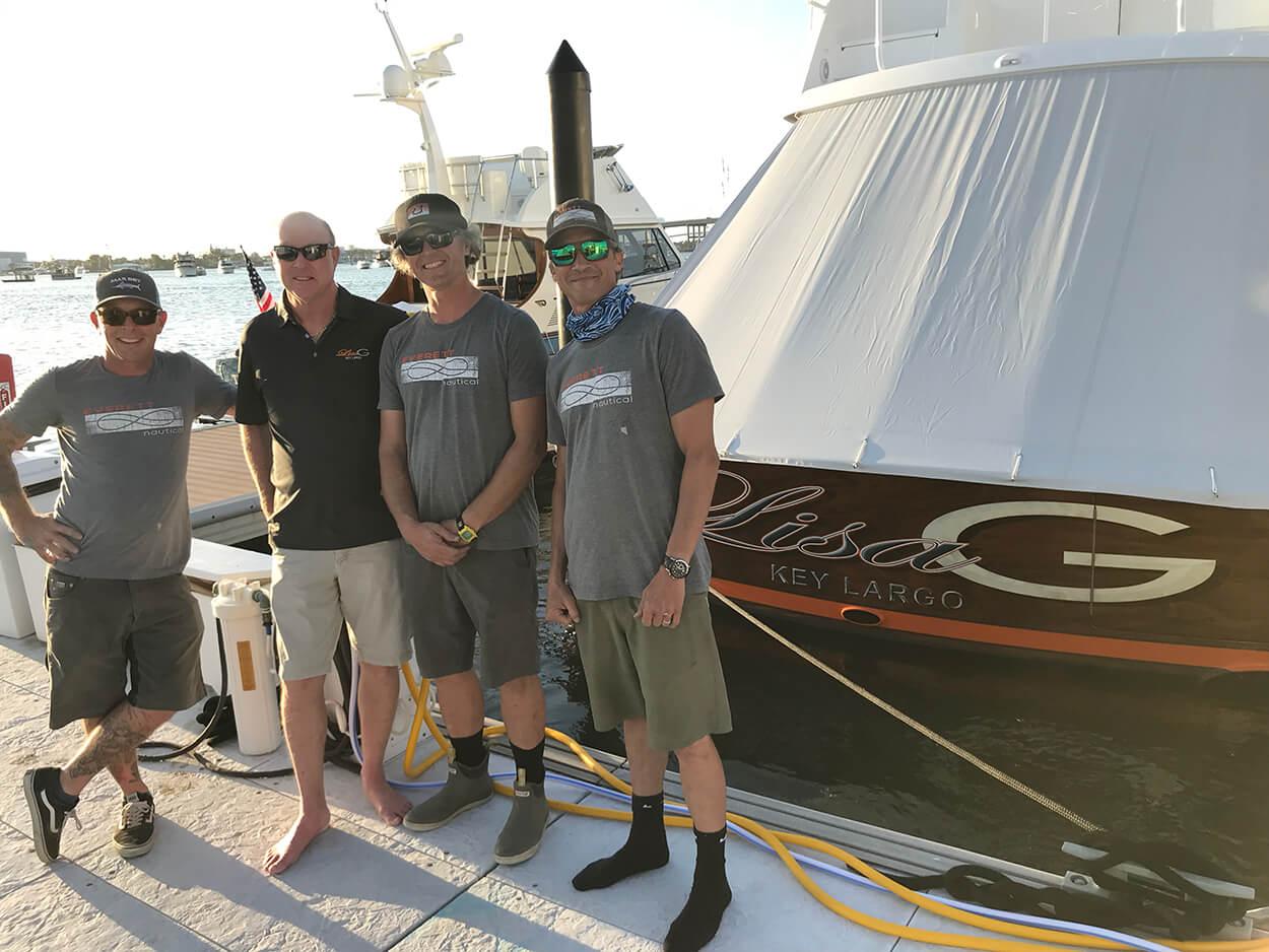 Lisa G Key Largo Boat Transom everett nautical crew florida