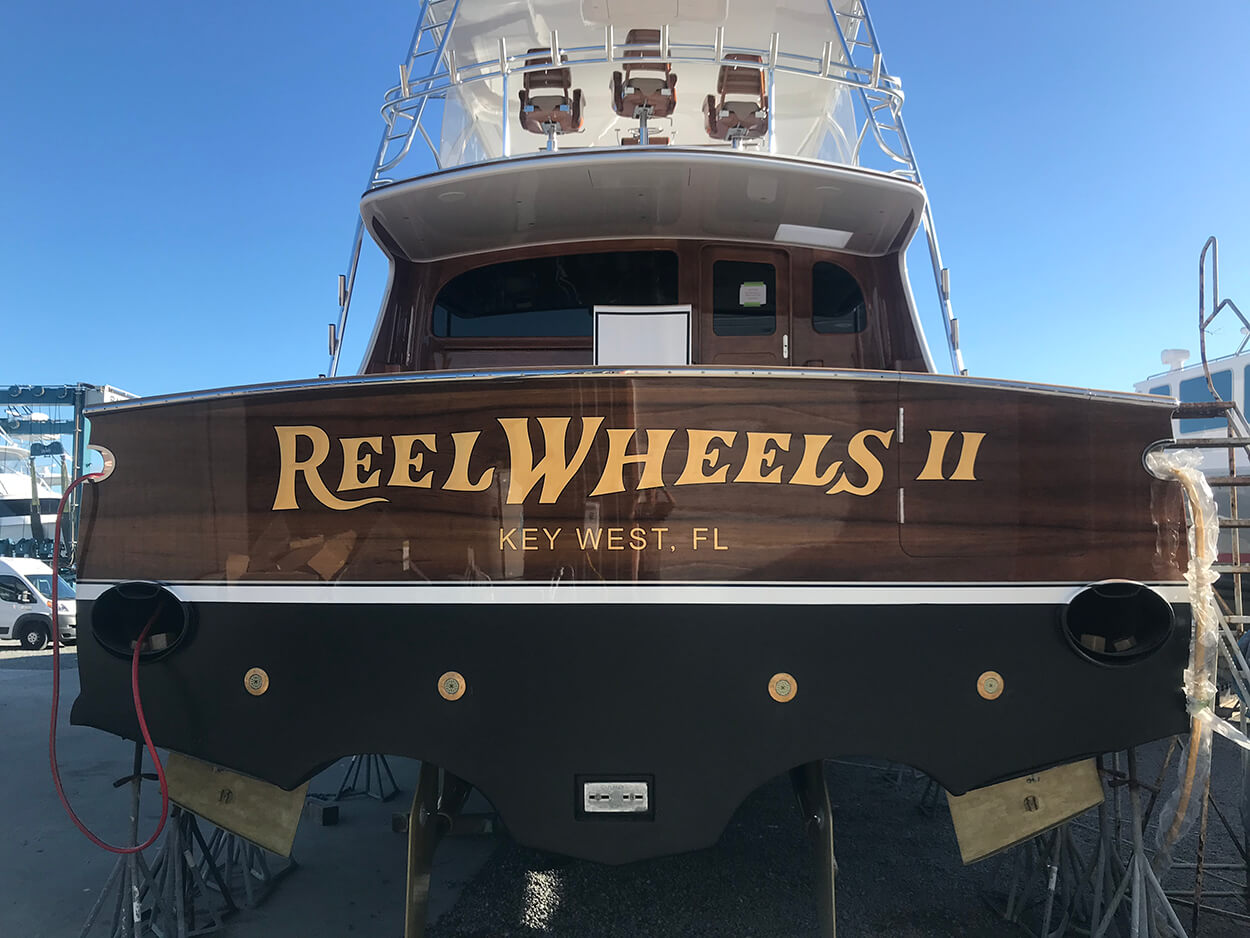 Reel Wheels II Boat Transom straight view main