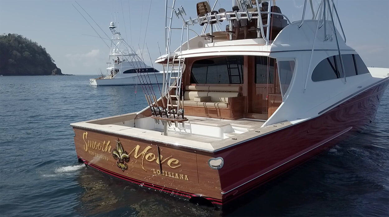 Smooth Move New Orleans Louisiana Boat Transom aft view name