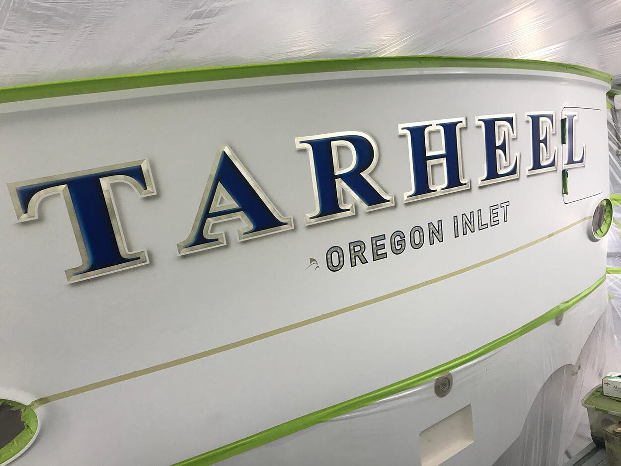 Tarheel Oregon Inlet NC Boat Transom yacht name boat