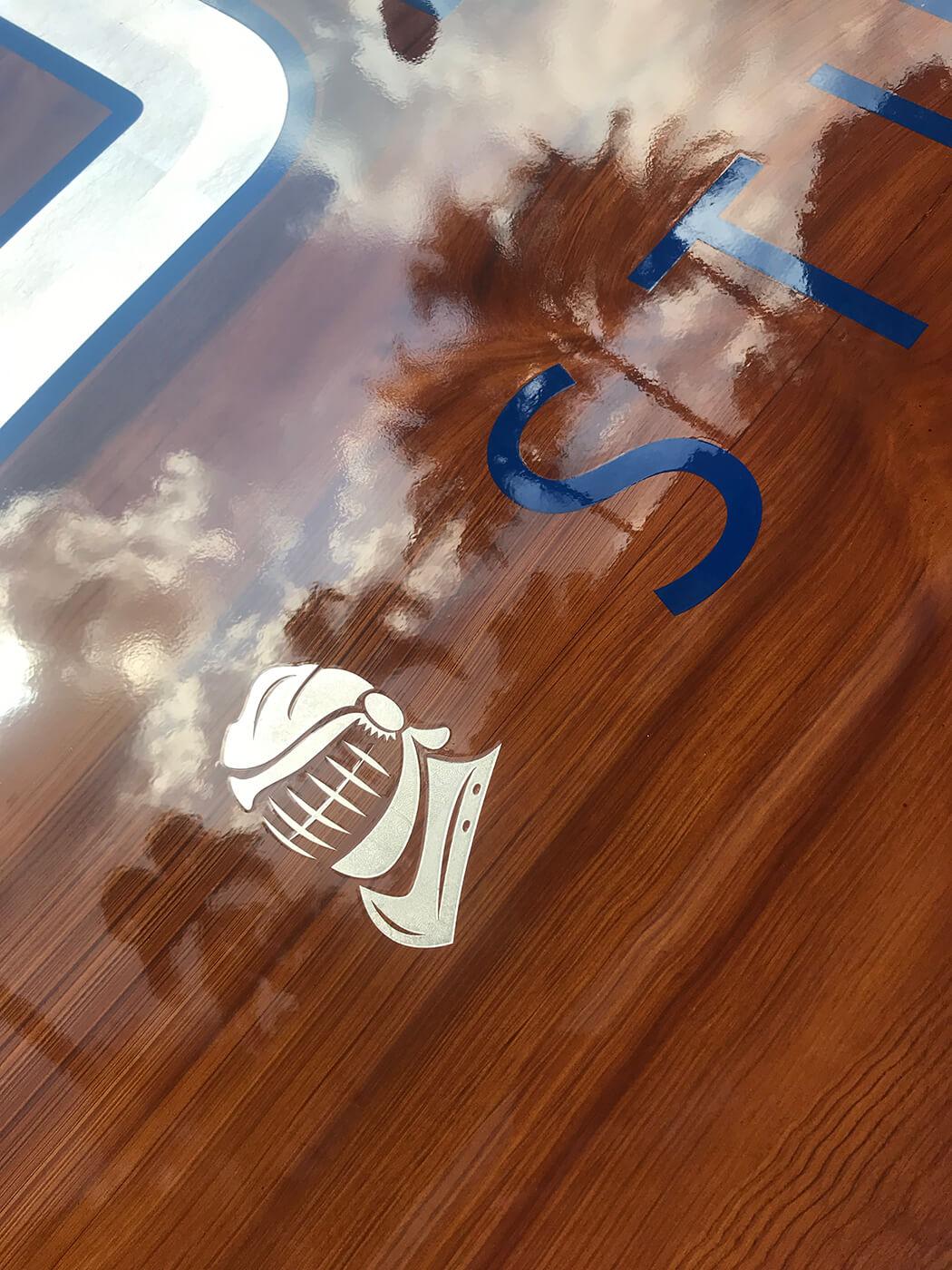 aluminator, stuart florida, boat transom, lettering, name design, graphic
