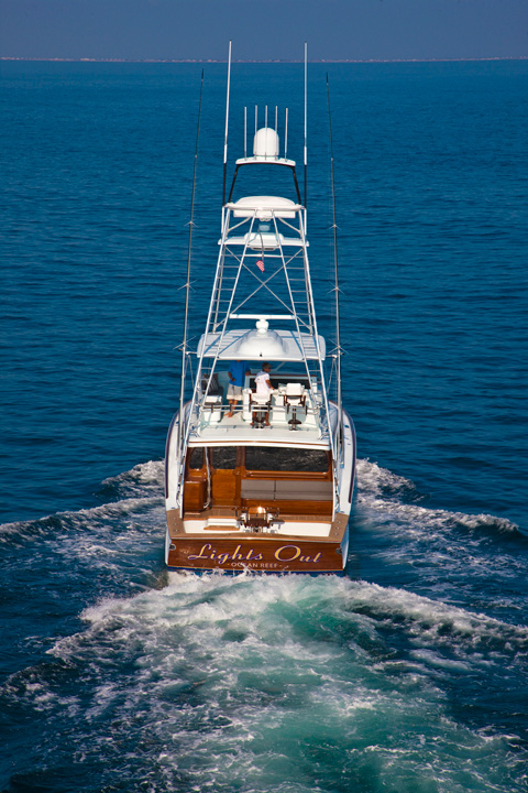 Lights Out, Ocean Reef Boat Transom
