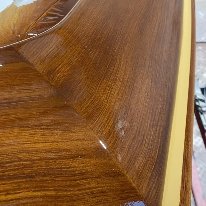 Everett Nautical recently completed a hand painted faux teak toe rail, cabin molding and helm pod on the Billfisher, hull #1 for Duffie Boatworks. All work completed at Duffie Boatworks, Ocean City, MD.